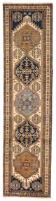 Ardebil Matto 82X315 Itämainen Käsinsolmittu Käytävämatto Ruskea/Tummanruskea (Villa, Persia/Iran)
