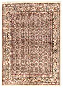 Moud Matto 168X238 Itämainen Käsinsolmittu Ruskea/Tummanbeige (Villa/Silkki, Persia/Iran)