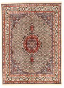 Moud Matto 167X226 Itämainen Käsinsolmittu Vaaleanruskea/Tummanruskea (Villa/Silkki, Persia/Iran)