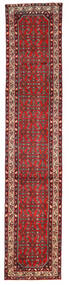 Hosseinabad Matto 78X388 Itämainen Käsinsolmittu Käytävämatto Tummanpunainen/Tummanruskea (Villa, Persia/Iran)