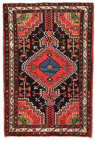 Hamadan Matto 73X109 Itämainen Käsinsolmittu Tummanpunainen/Tummanruskea (Villa, Persia/Iran)