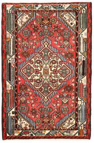 Hamadan Matto 82X125 Itämainen Käsinsolmittu Musta/Tummanruskea (Villa, Persia/Iran)