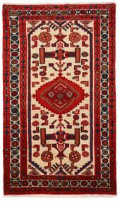 Rudbar Matto 69X117 Itämainen Käsinsolmittu Tummanpunainen/Ruoste (Villa, Persia/Iran)