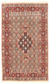 Moud Matto 74X127 Itämainen Käsinsolmittu Tummanruskea/Beige (Villa/Silkki, Persia/Iran)