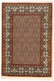 Moud Matto 83X120 Itämainen Käsinsolmittu Tummanruskea/Vaaleanruskea (Villa/Silkki, Persia/Iran)