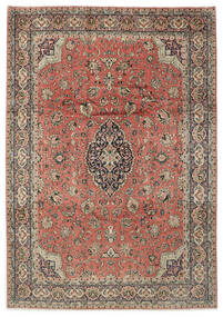 Sarough Matto 264X378 Itämainen Käsinsolmittu Vaaleanharmaa/Tummanpunainen Isot (Villa, Persia/Iran)