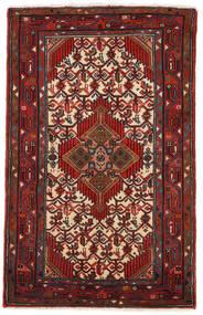 Hamadan Matto 75X121 Itämainen Käsinsolmittu Tummanpunainen/Musta (Villa, Persia/Iran)