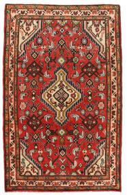 Hamadan Matto 74X118 Itämainen Käsinsolmittu Tummanruskea/Ruoste (Villa, Persia/Iran)