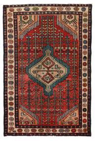 Hamadan Matto 76X115 Itämainen Käsinsolmittu Tummanruskea/Musta (Villa, Persia/Iran)