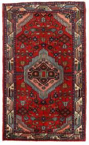 Hamadan Matto 75X128 Itämainen Käsinsolmittu Ruoste/Tummanruskea/Tummanpunainen (Villa, Persia/Iran)