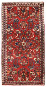 Sarough Matto 77X111 Itämainen Käsinsolmittu Tummanruskea/Tummanpunainen/Ruoste (Villa, Persia/Iran)