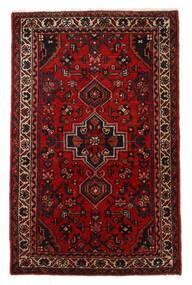 Hosseinabad Matto 67X107 Itämainen Käsinsolmittu Tummanruskea/Tummanpunainen/Ruoste (Villa, Persia/Iran)
