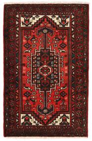 Hamadan Matto 72X113 Itämainen Käsinsolmittu Tummanpunainen/Ruoste (Villa, Persia/Iran)