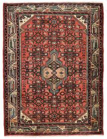 Hosseinabad Matto 85X114 Itämainen Käsinsolmittu Tummanruskea/Ruoste (Villa, Persia/Iran)