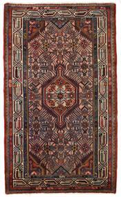 Hamadan Matto 73X124 Itämainen Käsinsolmittu Tummanpunainen/Musta (Villa, Persia/Iran)