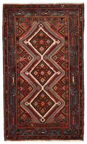 Asadabad Matto 75X130 Itämainen Käsinsolmittu Tummanruskea/Tummanharmaa (Villa, Persia/Iran)