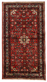 Hosseinabad Matto 82X146 Itämainen Käsinsolmittu Tummanpunainen/Ruoste (Villa, Persia/Iran)