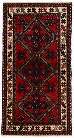 Hamadan Matto 86X165 Itämainen Käsinsolmittu Käytävämatto Tummanpunainen/Punainen (Villa, Persia/Iran)