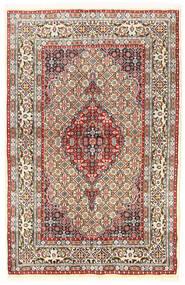 Moud Matto 95X145 Itämainen Käsinsolmittu Beige/Tummanharmaa (Villa/Silkki, Persia/Iran)