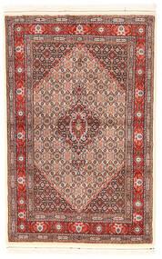 Moud Matto 95X147 Itämainen Käsinsolmittu Beige/Tummanruskea (Villa/Silkki, Persia/Iran)