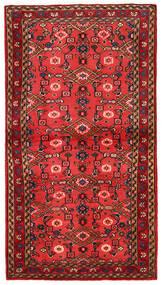 Hosseinabad Matto 87X160 Itämainen Käsinsolmittu Tummanruskea/Punainen (Villa, Persia/Iran)