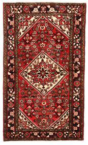 Hosseinabad Matto 100X170 Itämainen Käsinsolmittu Tummanpunainen/Ruoste (Villa, Persia/Iran)
