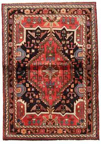 Hamadan Matto 103X148 Itämainen Käsinsolmittu Tummanruskea/Ruoste (Villa, Persia/Iran)