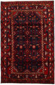 Hamadan Matto 108X169 Itämainen Käsinsolmittu Tummanpunainen/Punainen (Villa, Persia/Iran)