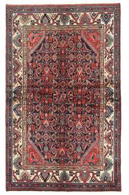 Hamadan Matto 130X212 Itämainen Käsinsolmittu Tummanpunainen/Tummanruskea (Villa, Persia/Iran)