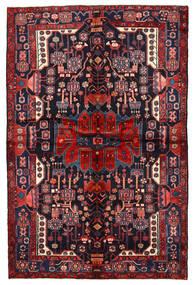 Nahavand Matto 162X244 Itämainen Käsinsolmittu Tummanvioletti/Tummanpunainen (Villa, Persia/Iran)