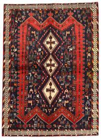 Afshar/Sirjan Matto 177X247 Itämainen Käsinsolmittu Tummanpunainen/Tummansininen (Villa, Persia/Iran)