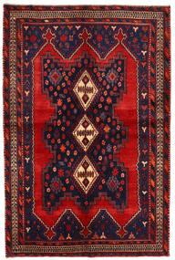 Afshar/Sirjan Matto 138X210 Itämainen Käsinsolmittu Tummanpunainen/Tummanvioletti (Villa, Persia/Iran)