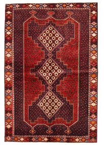 Afshar/Sirjan Matto 152X225 Itämainen Käsinsolmittu Tummanpunainen/Ruoste (Villa, Persia/Iran)