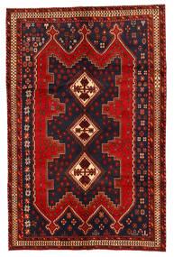 Afshar/Sirjan Matto 166X256 Itämainen Käsinsolmittu Tummanpunainen/Tummansininen/Ruoste (Villa, Persia/Iran)