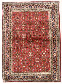 Zanjan Matto 104X147 Itämainen Käsinsolmittu Tummanruskea/Tummanpunainen (Villa, Persia/Iran)