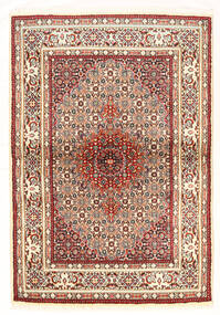 Moud Matto 101X147 Itämainen Käsinsolmittu Vaaleanpunainen/Tummanruskea (Villa/Silkki, Persia/Iran)