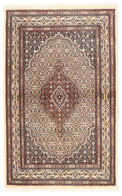 Moud Matto 96X153 Itämainen Käsinsolmittu Beige/Tummanpunainen (Villa/Silkki, Persia/Iran)