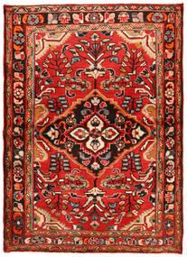 Hosseinabad Matto 112X157 Itämainen Käsinsolmittu Tummanpunainen/Ruoste (Villa, Persia/Iran)