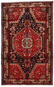 Hamadan Matto 112X182 Itämainen Käsinsolmittu Tummanruskea/Tummanpunainen (Villa, Persia/Iran)
