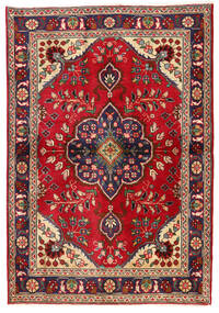 Tabriz Matto 98X142 Itämainen Käsinsolmittu Tummanpunainen/Tummanvioletti (Villa, Persia/Iran)