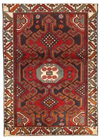 Asadabad Matto 103X145 Itämainen Käsinsolmittu Tummanpunainen/Musta (Villa, Persia/Iran)