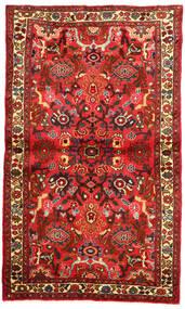 Hosseinabad Matto 96X163 Itämainen Käsinsolmittu Tummanpunainen/Punainen (Villa, Persia/Iran)