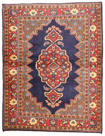 Golpayegan Matto 112X147 Itämainen Käsinsolmittu Tummanvioletti/Tummanharmaa (Villa, Persia/Iran)