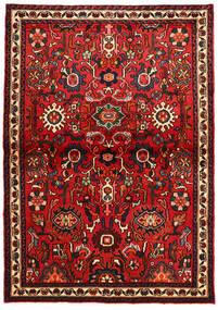 Hosseinabad Matto 106X151 Itämainen Käsinsolmittu Tummanpunainen/Musta (Villa, Persia/Iran)