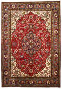 Tabriz Matto 205X296 Itämainen Käsinsolmittu Tummanpunainen/Ruoste (Villa, Persia/Iran)