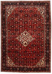 Hosseinabad Matto 213X302 Itämainen Käsinsolmittu Tummanpunainen/Tummanruskea (Villa, Persia/Iran)