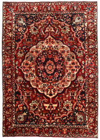 Bakhtiar Matto 217X310 Itämainen Käsinsolmittu Tummanpunainen (Villa, Persia/Iran)