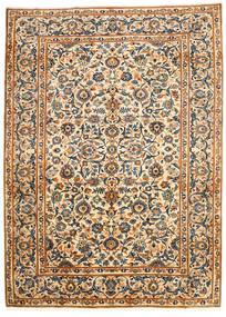 Najafabad Matto 203X278 Itämainen Käsinsolmittu Beige/Musta (Villa, Persia/Iran)