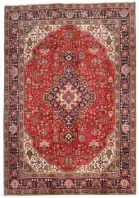 Tabriz Matto 197X288 Itämainen Käsinsolmittu Tummanruskea/Tummanpunainen (Villa, Persia/Iran)