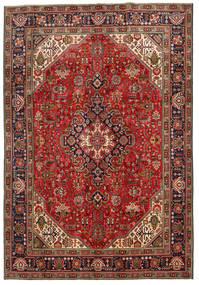 Tabriz Matto 198X287 Itämainen Käsinsolmittu Tummanruskea/Tummanpunainen (Villa, Persia/Iran)